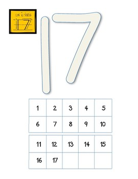 Play-Dough Counting Mat (with tens frames and writing guides)