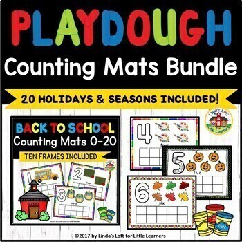 Play Dough Counting Mats 0-10 Bundle