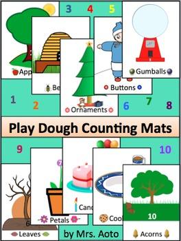 Play Dough Counting Mats 1-10