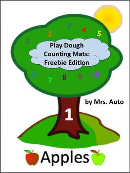 Play Dough Counting Mats 1-10: Freebie Edition