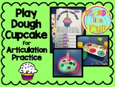 Play Dough Cupcake for Articulation Practice FREEBIE