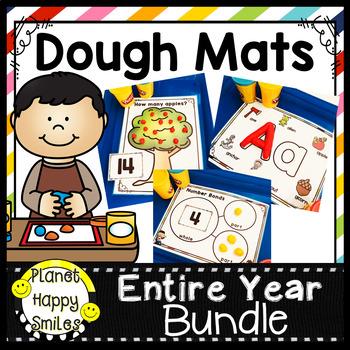 Play Dough/ Dry Erase Mats Alphabet & Numbers 1-20