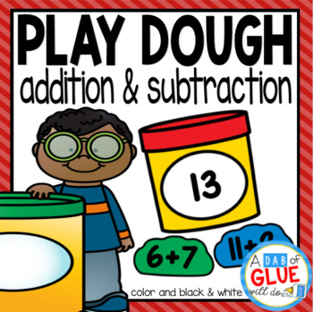Play Dough Editable Addition and Subtraction Activity