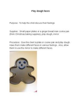 Play Dough Faces
