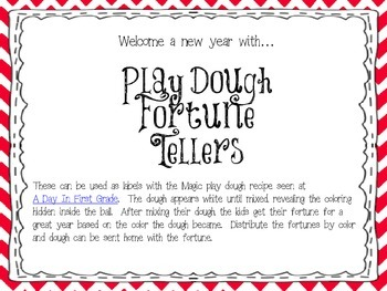 Play Dough Fortune Tellers