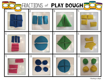 Play Dough Fractions Task Cards