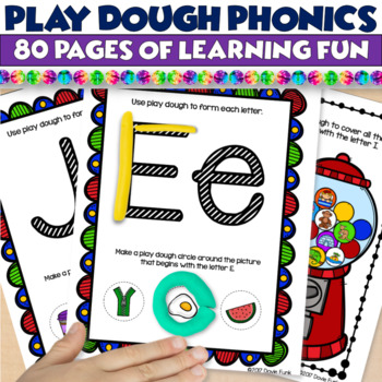Play Dough Phonics Mats - Literacy Center Learning