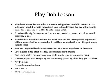 Play Dough Lesson: Life Skills Lesson for National Play Dough Day