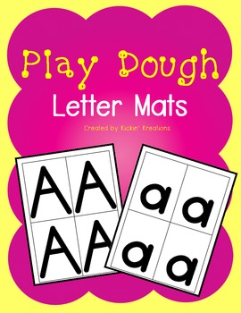 FREEBIE - Play Dough Letter Mats