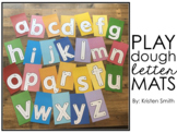 Play Dough Letter Mats (lowercase letters)