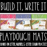 Play Dough Letter Recognition, Beginning Sound, and Counti