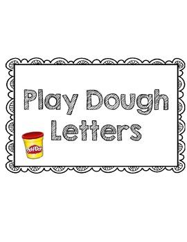 Play Dough Letter Set