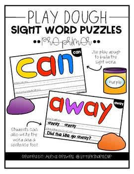 Play Dough Letter Sight Word Cards