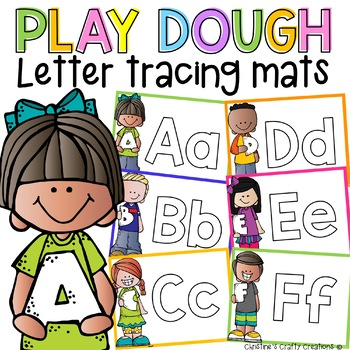 Play Dough Letter Tracing Mats