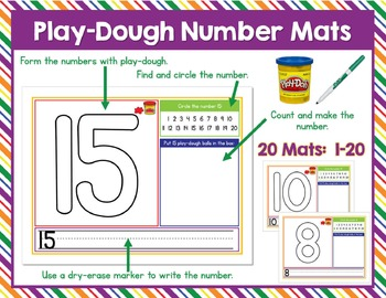 Play-Dough Letter and Number Mats BUNDLE!