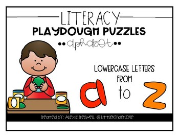 Play Dough Lowercase Letter Mats