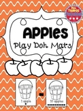 Apples, Preschool:  Play Dough Mat: Apples (1-10)