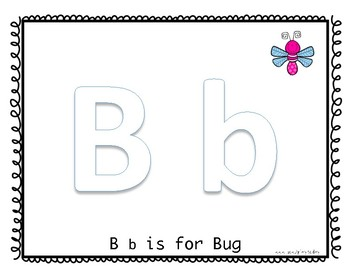 Play Dough Mat: B is for Bug