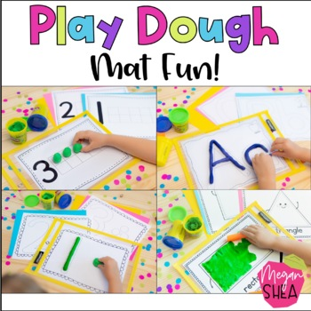 Play Dough Mat Fun! Play Dough Learning Mats