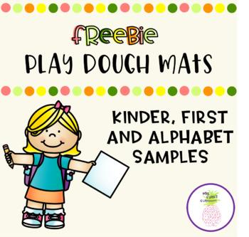 Play Dough Mat Sample - Freebie!