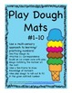 Play Dough Math Mats #1-10