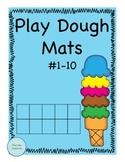 Play Dough Math Mats #1-10
