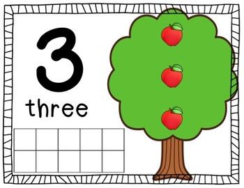 Interactive Play Dough Math Centers: Differentiated Apple Tree Mats {Prek-1}