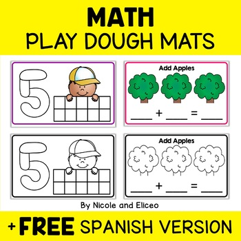 Math Play Dough Mat Bundle