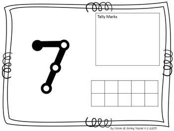 Play Dough Math Mats - Number Sense - Tens Frames - Tallies