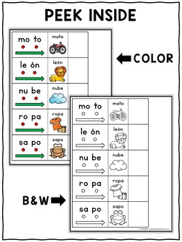 Spanish Syllable Blending Cards 1