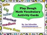 Play Dough Math Vocabulary Task Cards