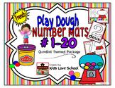 Play Dough Mats-#1-20-BubbleGum Theme FRENCH Version Lots of Fun!
