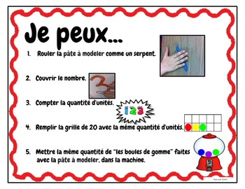 Play Dough Mats-#1-20-BubbleGum Theme FRENCH Version Lots of Fun!
