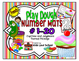 Play Dough Mats-#1-20-Cupcakes and JellyBeans Theme FRENCH Version Lots of Fun!
