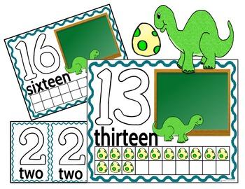Play Dough Mats-#1-20-Dinosaur Theme ENGLISH Version Lots of Fun!