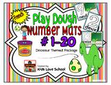 Play Dough Mats-#1-20-Dinosaur Theme FRENCH Version Lots of Fun!