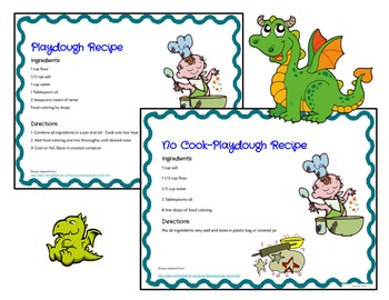 Play Dough Mats-#1-20-Dragon Theme ENGLISH Version Lots of Fun!