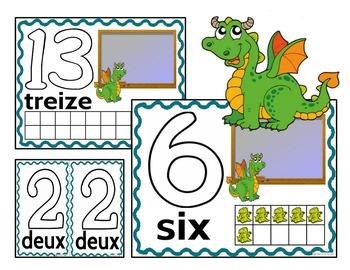 Play Dough Mats-#1-20-Dragon Theme FRENCH Version Lots of Fun!