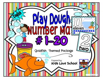 Play Dough Mats-#1-20-Goldfish  Theme ENGLISH Version Lots of Fun!