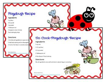 Play Dough Mats-#1-20-LadyBug Theme ENGLISH Version Lots of Fun!