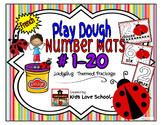 Play Dough Mats-#1-20-LadyBug Theme FRENCH Version Lots of Fun!