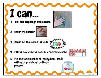 Play Dough Mats-#1-20-Swirly Candy Theme ENGLISH Version Lots of Fun!