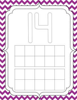 Play Dough Mats {11-20}