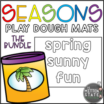 Play Dough Mats: 4 SEASONS Bundle