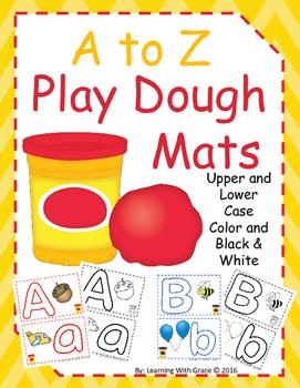 Play Dough Mats A to Z