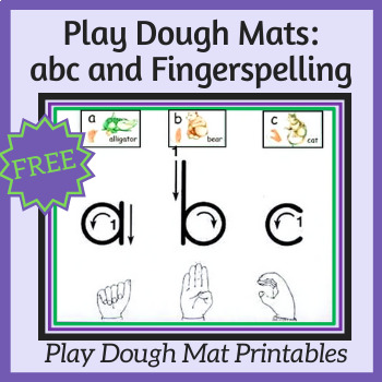 Play Dough Mats: ABC and Fingerspelling Literacy Center