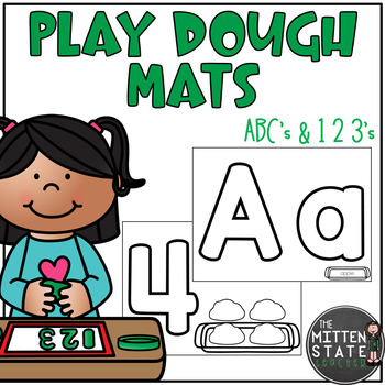 Play Dough Mats {ABC's and 123's}