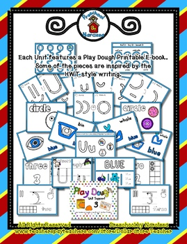 Play Dough Mats / Activities - Preschool Basics - Unit 3