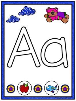 Play Dough Mats - Alphabet, Numbers, and Shapes (Superhero)