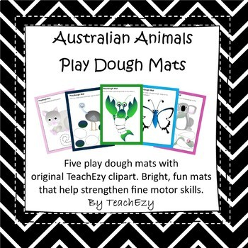 Play Dough Mats Australian Animals